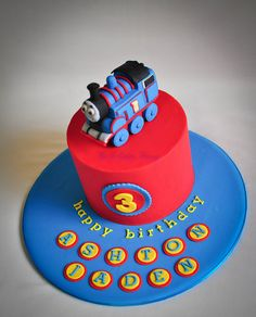for caleb 3rd bday,Thomas the Tank Engine cake