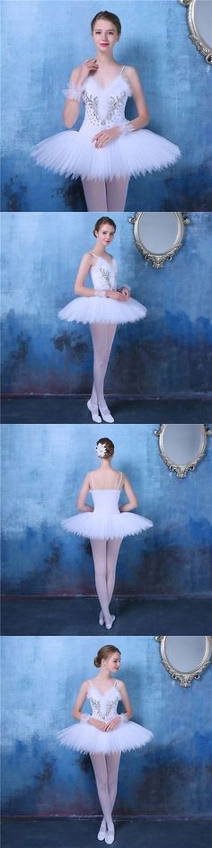 f386bfce7 Ballet 152360: New Adult Professional Swan Lake Tutu Ballet Costume Hard  Organdy Platter Skirt -