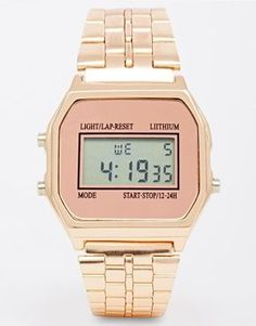 New Look Digital Rose Gold Watch