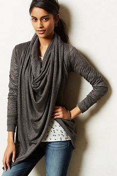 Infinity Cowlneck Pullover #anthropologie