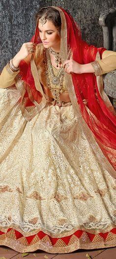 Attention Brides! Your Lehenga Search Ends here! 180530 White and Off White color family Mehendi & Sangeet Lehenga in Net fabric with Border, Machine Embroidery, Stone, Thread, Zari work . #designerlehenga #Designer #Saree #Sari #Embroidery #DesignerWears #Occasion #IndianDresses #Partywears #Indian #Women #Bridalwear #Fashion #Fashionista #OnlineShopping #Lehenga #DesignerBlouse