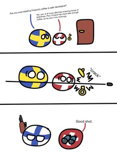 Country Art, Fun Comics, Super Funny, Hetalia, Finland, Funny Things, Flags, Norway, Countries