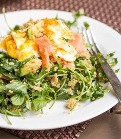 You can totally have salad for breakfast, especially when you add quinoa, avocado, and eggs.