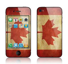 Apple iPhone 4 4S Decal Skin  Old Canadian Flag by skunkwraps, $9.95