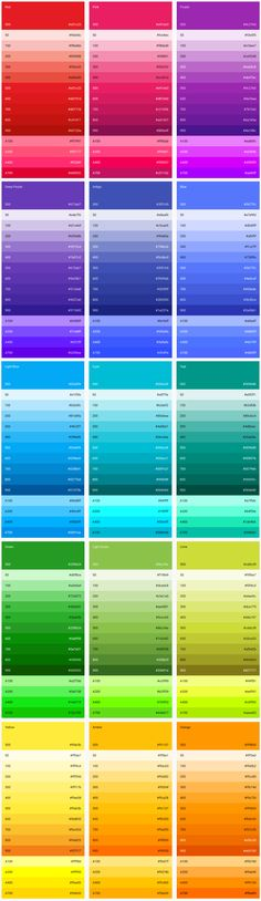 Material Design - Style - Color-UI Post a on for and get unlimited Web Design, Flat Design, Ui Color, Colour Board, Design Color, Text Color, Colour Pallete, Colour Schemes, Color Palettes