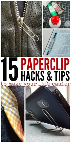 Paperclip Lifehack Tips to Make Your Life Easier.' (via DIY House Hacks - One Crazy House) Hacks Videos, Diy Videos, Things To Know, Good Things, Amazing Things, How To Clean White Converse, Paper Clip, Organization Hacks, Home Hacks