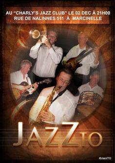 """Bonsoir le Monde ! Ne manquez pas JazzTO le samedi 2 décembre 2017 à 21 h00 – 21 h 30 au """"Charly's Jazz Club"""" Rue de Nalinnes, 511 à 6001 MARCINELLE. Tél 071/ 51 36 36 """"Keep the swing"""" http://www.youtube.com/watch?v=ZYF4HFRjD0E http://www.youtube.com/watch?v=K_XQODX7SyE https://www.facebook.com/Jazzto-175375076134979/?fref=ts Sans oublier leur page sur le blog: https://ecollart.xyz/artistes/jazzto/ Li P'ti Fouineu vous salue bien ! PDFImprimer"""