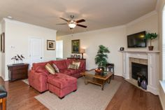 Willow Pond model living room  #bishardhomes