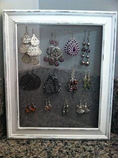 Homemade earring holder!  To place an order, send an email to jill_deleo@yahoo.com.