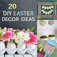 20 DIY Easter Decor Ideas. My spring yarn wreath was featured! :) LOVE THIS ONE!!