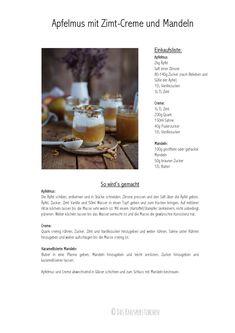 Applesauce with cinnamon cream and caramel almonds ⋆ Crunchy sticks .- Apfelmus mit Zimtcreme und Karamell-Mandeln ⋆ Knusperstübchen Applesauce with cinnamon cream and caramel almonds ⋆ crunchy parlor - Pudding Desserts, Chia Pudding, Pudding Recipes, Cake Recipes, Dessert Oreo, Pumpkin Dessert, Eat Dessert First, Chiffon Cake, Strawberry Crisp