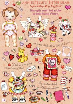 (⑅ ॣ•͈ᴗ•͈ ॣ)♡                                                             ✄Mary Engelbreit Paper Doll Ann Estelle's Sister