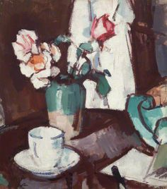 A Still Life of Roses by Samuel John Peploe