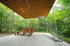 Pilotis in a Forest 森のピロティ Architect: Go Hasegawa 長谷川豪 Location: Gunma, Japan Completion year: 2010