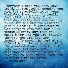 Happy birthday Jeffrey I love you