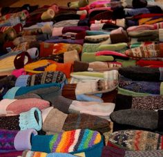Mittens made from recycled sweaters