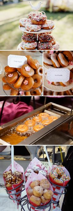 apparently donut carts at weddings are in :-) --> Doughnut Divas
