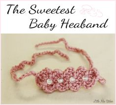 Well, I've got just one more free crochet headband pattern for you! I've shared my  Beads and Circles Headband  and my Little Bow Headband...