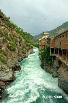 Superb view of the Bahrain, Swat valley kpk Pakistan