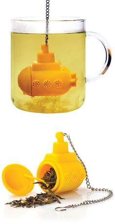 {Yellow Submarine Tea Infuser} for the Beatles + tea lover in your life!