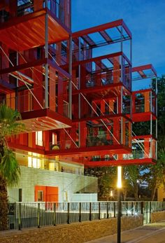 Rubis Housing by Jean-Paul Viguier Architecture in Montpellier France. interesting way of delineating space