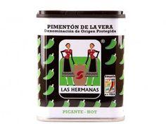 Lata de Pimentón Picante de la Vera.  Hot Paprika from La Vera.  #sof #comidaespañola #españa #extremadura #pimenton #delaVera #lata #gourmet #DenominacionOrigen #spanishfood #spain #paprika #hot #appellationorigin #delicatessen #instafood #instagood  #yummy        Spanish Food Online           Comida Española