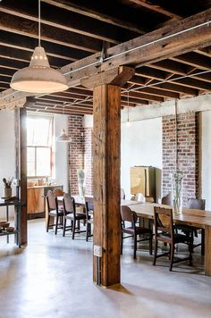Preserving some of the original beams in any renovation adds a rustic charm.