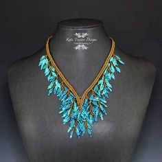 Hey, I found this really awesome Etsy listing at https://www.etsy.com/listing/224651744/blue-fringed-foliage-necklace