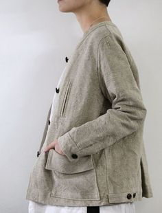 Jacket in natural belgian linen, lovely full shape : envelope Fashion Details, Boho Fashion, Fashion Outfits, Womens Fashion, Mode Style, Style Me, Vetements Clothing, Linen Jackets, What To Wear