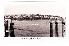 BC – WHITE ROCK, View of Beach from the Pier, J.C. Walker c. 1956-1965 RPPC