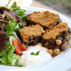 Pumpkin Kibbeh with Spinach, Chickpeas and Walnuts