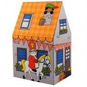 Sinterklaas traktatie doosje in de vorm van een huisje. Download de print en print zo veels als je wilt.