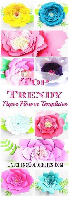 Easy Method When Building any DIY Giant Paper Flower DIY Giant Paper flowers. Easy backdrop flower tutorial with printable flower templates.