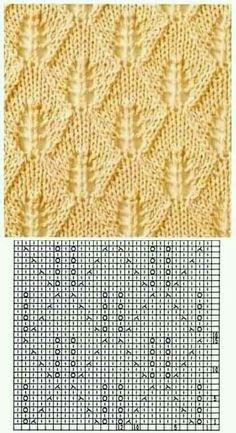 Lace Knitting Stitches, Lace Knitting Patterns, Knitting Charts, Lace Patterns, Free Knitting, Stitch Patterns, Gilet Crochet, Crochet Lace, Drops Design