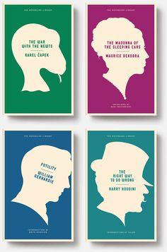 Astute and very nicely designed series of covers by Christopher Brian King for Melville House.