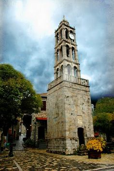 Bell tower in Stemnitsa, Greece