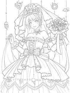 People Coloring Pages, Cute Coloring Pages, Adult Coloring Pages, Coloring Books, Anime Base Chibi, Anime Lineart, Princess Coloring Pages, Beautiful Sketches, Cartoon Sketches