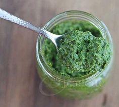 Healthy Kale Basil Mint Parsley Pesto @Jeanette | Jeanette's Healthy Living