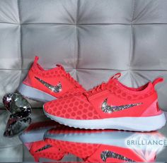 the best attitude 94665 e2b76 Swarovski Nike Shoes Bling Nike Juvenate Shoes Atomic Pink Customized with  Swarovski Crystals Authentic New in Box Bling