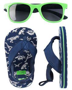 d88825cbf09c Ensemble lunettes de soleil et sandales de plage pour bébé