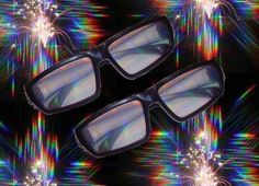 Diffraction Glasses. These weird spectacles are specially designed for watching firework displays and laser light displays. They turn the lights into a rainbow of colors greatly enhancing the wearer's experience.