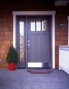 Exterior Design: Lovely Jeld Wen Exterior Doors For Home Exterior images ideas from Best Door Photos Collection Modern Entrance Door, Modern Front Door, Front Door Entrance, Front Door Design, Entry Doors, Barn Doors, Front Entry, Entryway, Front Porch