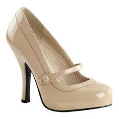 @Overstock - Women's Pin Up Cutiepie 02 Cream Patent - Adorable patent heels that are sure to turn heads everywhere you go!.  http://www.overstock.com/Clothing-Shoes/Womens-Pin-Up-Cutiepie-02-Cream-Patent/9013107/product.html?CID=214117 $54.95