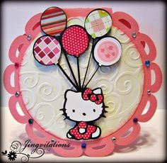 #hellokitty #invitations #partyideas  This is my favorite hello kitty card so far!