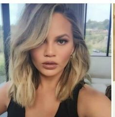 short haircut with bangs chrissy teigen shows new hair do hairs 9835 | dd04c364a4ac380e58ab9835c1ae3052