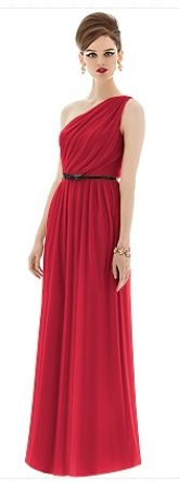 Dessy - Greek inspired red bridesmaid dress  @funnywedding.org #bridesmaid #dresses #bridesmaiddresses