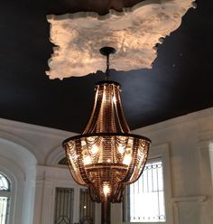 bicycle chain chandelier  great little video of the person creating them too, Carolina Fontoura Alzaga