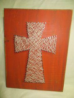 Large String Art Cross