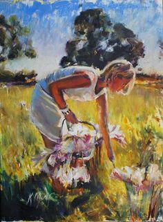 "Saatchi Art Artist Kristian Mumford; Painting, ""Philippa with Finnis pink lady's"" #art"