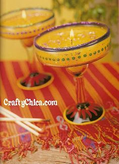 DIY Margarita Glass Candles- cinco de mayo